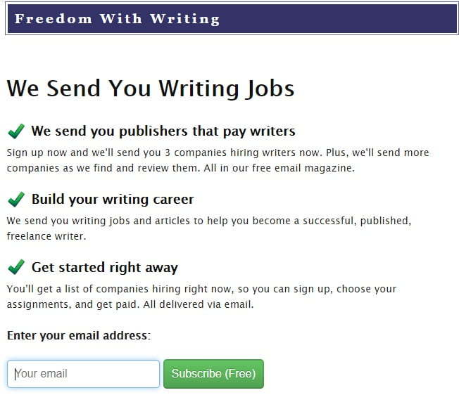 Freedom with writing